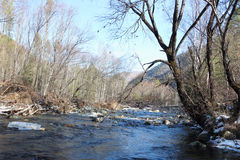 The river flowing between mountains Royalty Free Stock Photography