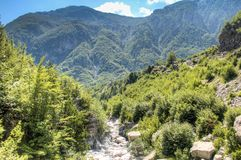 River in Theth mountains, Albania Royalty Free Stock Image