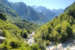 River in Theth mountains, Albania Stock Photo