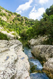 River flowing through natural reserve Stock Photo