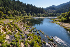 River flowing in Oregon, USA.  stock photo