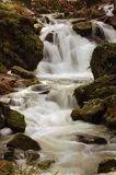 River flowing over stones Royalty Free Stock Photo