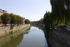 River flowing through a park in the Olomouc city Royalty Free Stock Photos