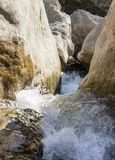 River flowing on rocks Royalty Free Stock Image