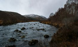 River flowing through the scottish highlands stock photography