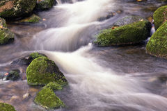 River flowing in slow motion Stock Image