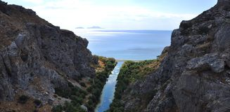 River flowing to aegean sea3 Royalty Free Stock Photos