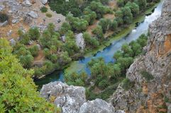 River flowing to aegean sea Royalty Free Stock Photos