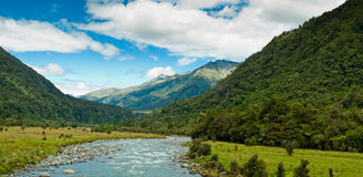 River flowing through a valley on a summer day Royalty Free Stock Image