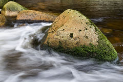 River. Flowing water in the river Royalty Free Stock Photo