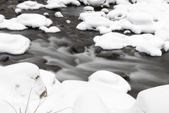 River flowing during winter Stock Photos