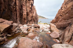 river flows into  Barents Sea Stock Photography