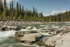 River Flows over Rocks Stock Image