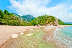 River flows into the Sea Stock Images