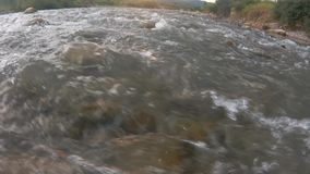 River flows stock footage