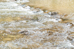 The river flows through the stones. Stock Images