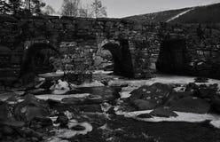 River. Flows under the bridge Stock Image