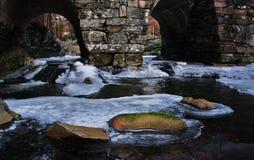 River. Flows under the bridge Stock Images
