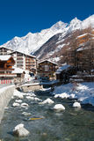 River in Zermatt, Switzerland Stock Photography