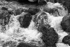 River with foam Royalty Free Stock Photography