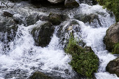 River with foam Royalty Free Stock Images
