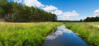 River in Fojutowo, Poland. Picture of small river in Fojutowo. Fojutowo is a small town located in Poland Stock Photos