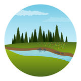River and forest Royalty Free Stock Photo