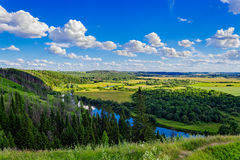 River and forest landscape Royalty Free Stock Image