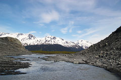 River formed by Exit Glacier Stock Photo