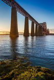 River and Forth Road Bridge. At sunset Stock Photo