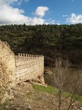 River Fortress. Fortress near river in Buitrago, Sprain Stock Image