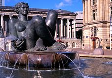 River fountain, Birmingham. Royalty Free Stock Photos