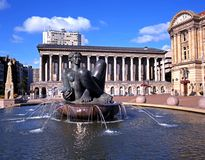 River fountain, Birmingham. Royalty Free Stock Images