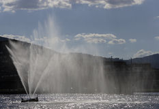 River fountain in Drammen. The river fountain in Drammen, Norway Stock Photos