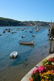 River at Fowey, Cornwall, England Royalty Free Stock Photography
