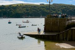 River at Fowey, Cornwall, England Stock Images