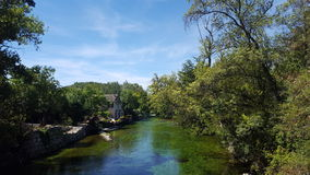 River of France. Sweet green river Royalty Free Stock Photos