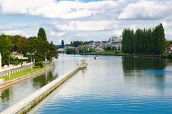 River in France Stock Photo