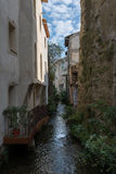 River. In France which passes through L`isle-Sur-la-Sorgue Stock Photo