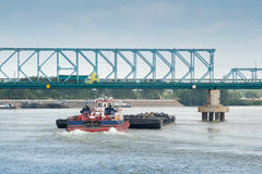 River freight traffic Royalty Free Stock Photography