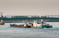 River freight traffic Stock Images