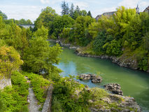 River in the french pyrenees Stock Image