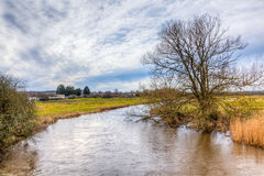 River Frome at Wool. The River Frome at Wool Dorset England UK Europe Royalty Free Stock Photos