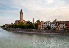 River front in Verona Stock Photo