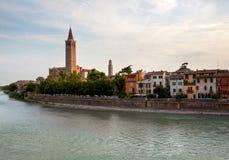 River front in Verona Stock Photo