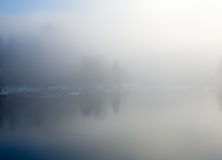River in a frosty mist, Stock Photography
