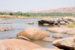 River full of big stones Stock Image