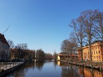Spring sun in Uppsala Royalty Free Stock Images