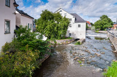 River Fyris in Uppsala Royalty Free Stock Photo