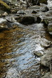 River in Galamus canyon, Pyrenees orientales in France Stock Photography